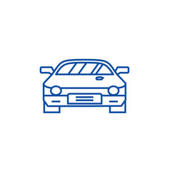 car raceracing line icon concept car raceracing vector image