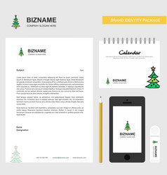 Christmas calendar business letterhead calendar vector