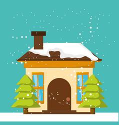 christmas home design vector image