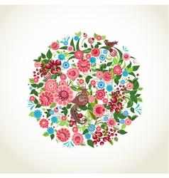 circular flower vector image