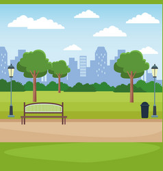 city park scenery vector image