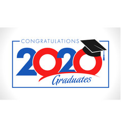Class 2020 year graduation banner concept vector