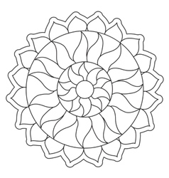 Coloring simple sun mandala vector