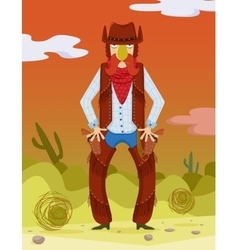 Cowboy Wild West vector image