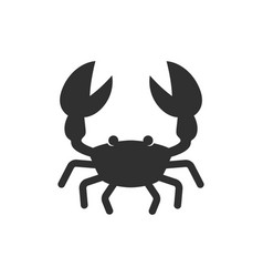 crab black icon vector image