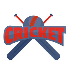 cricket logo flat style vector image