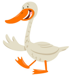 cute goose animal character vector image