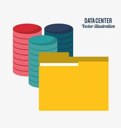 Data center technology folder file document vector