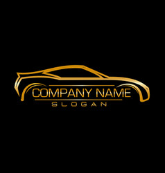 Design car company black background vector
