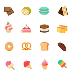 Dessert icon full color flat icon design vector image