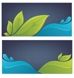 ecology backgrounds vector image