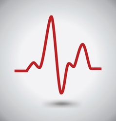 Electrocardiogram icon ecg or ekg icon madical vector
