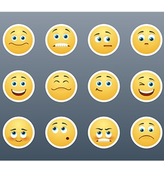 Emotional Stickers vector