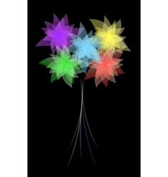 EPS10 flower design against dark background vector image