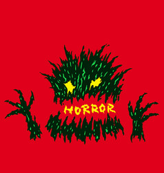 Evil red horror monster vector