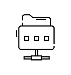 Files keeper line icon concept sign outline vector