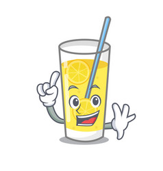 Finger lemonade mascot cartoon style vector