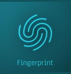 fingerprint identification icon biometric vector image
