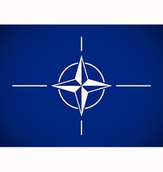 Flag north atlantic treaty organization vector