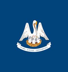 flag usa state louisiana vector image