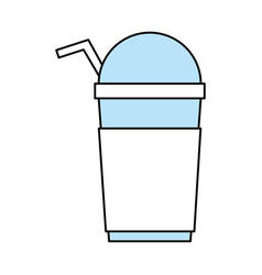 Flat line milkshake design vector