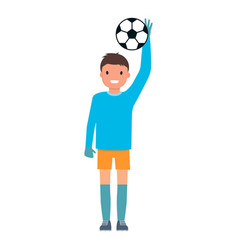 football goalkeeper icon flat style vector image
