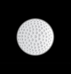 golf ball moon vector image