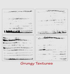 Grungy hand made textures set vector