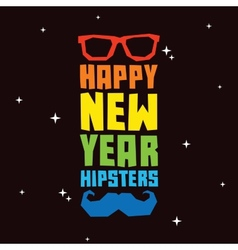 Happy new year hipsters vector image
