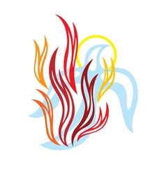 Holy spirit fire vector image