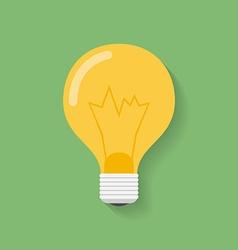 Icon of light bulb lamp Flat style lamp bulb vector image