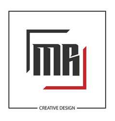 Initial letter mr logo template design vector
