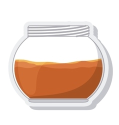 Jar sweet honey isolated vector
