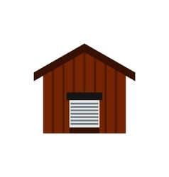 Large barn icon flat style vector image