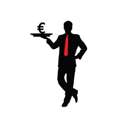 man with euro icon vector image