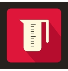 Measuring cup icon in flat style vector image
