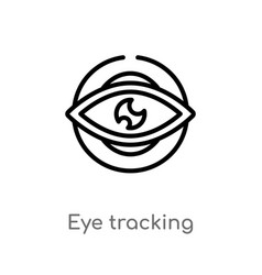 Outline eye tracking icon isolated black simple vector