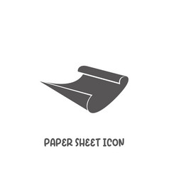 paper sheet icon simple flat style vector image