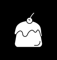 Pastry dark mode glyph icon vector