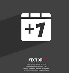 Plus one Add one icon symbol Flat modern web vector image