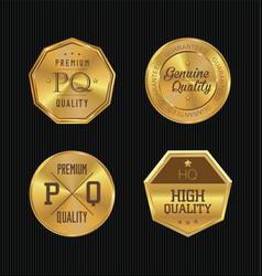 quality golden badges vector image