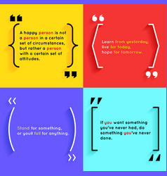 Quotes and brackets vector image