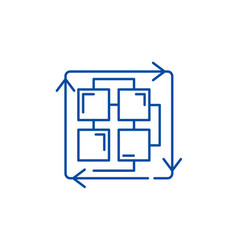 sequence of processes line icon concept sequence vector image