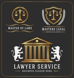 Set lawyer service office logo template design vector