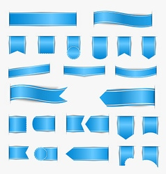 Set of blue ribbons vector image