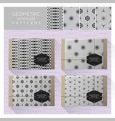 Set of geometric seamless pattern 6 vector