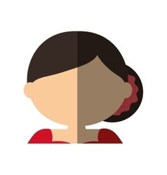 Spanish flamenco woman avatar vector