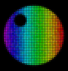 Spectrum dotted sphere icon vector
