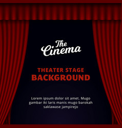 Theater stage background design opened red vector