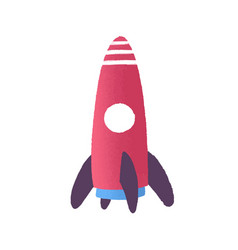 toy rocket flat childish vector image